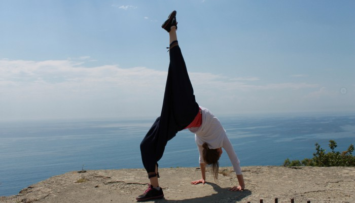 Yogastunde mit Nadine